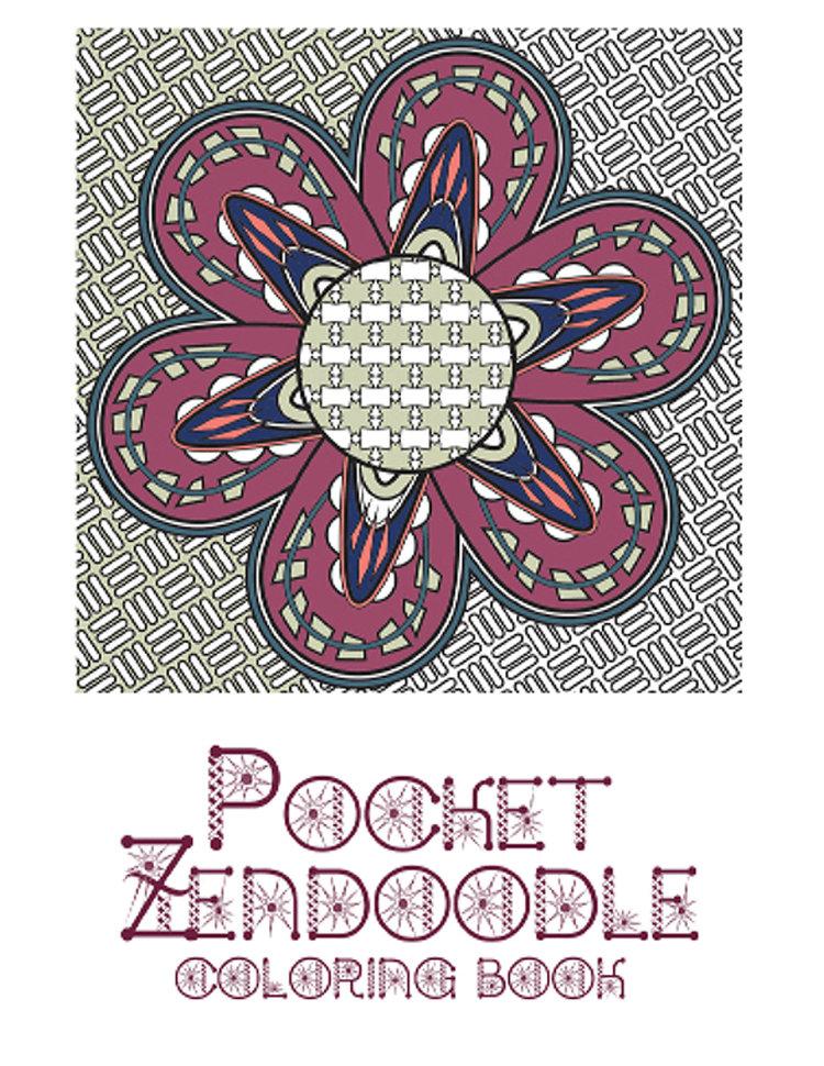 Adult coloring Book Pocket Zendoodle