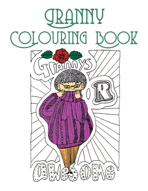 granny fun coloring book for adults