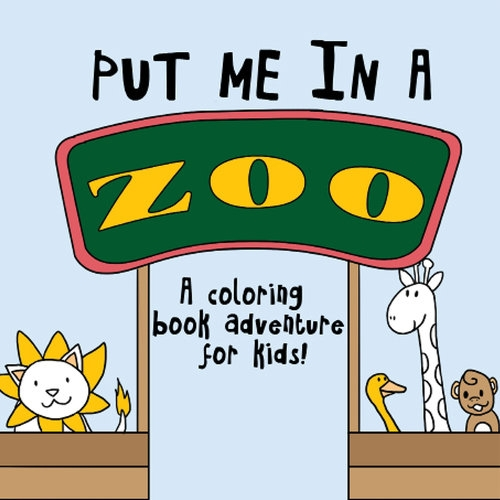 Happies - Put Me In A Zoo Coloring Book