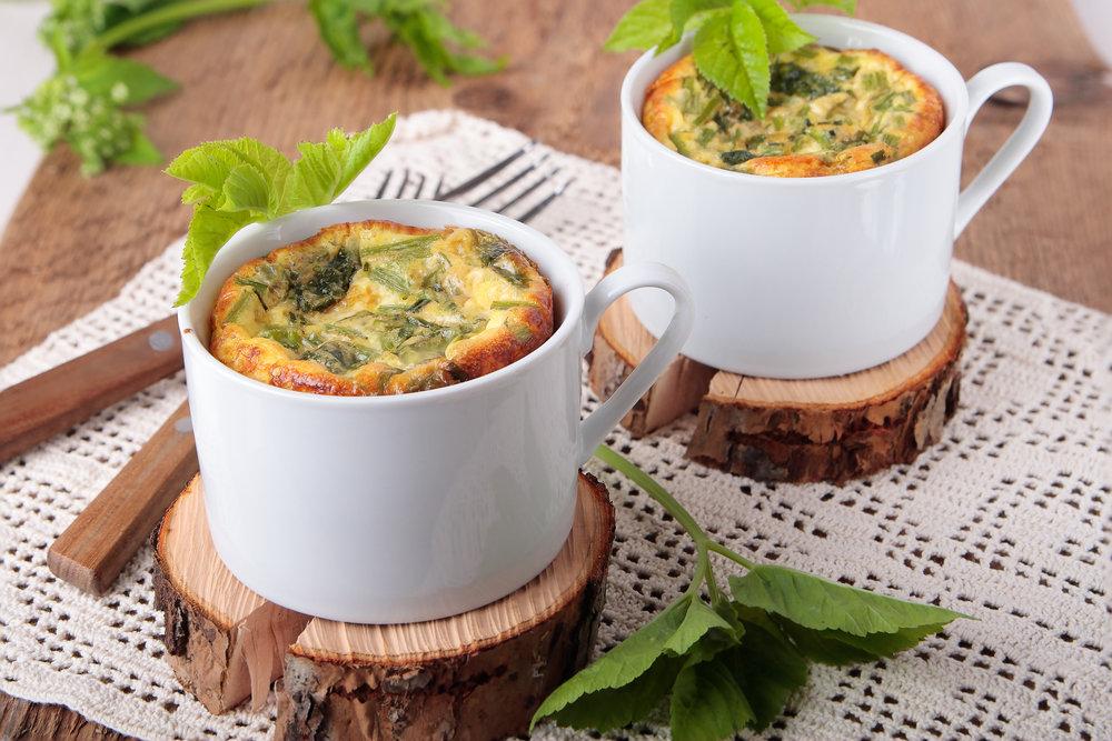 easy breakfast, omelette in a cup, microwave omelette