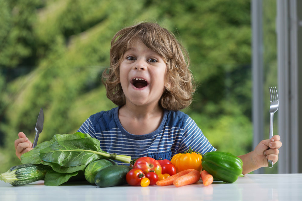 end picky eating kid excited about veggies because of happies books and whatnot