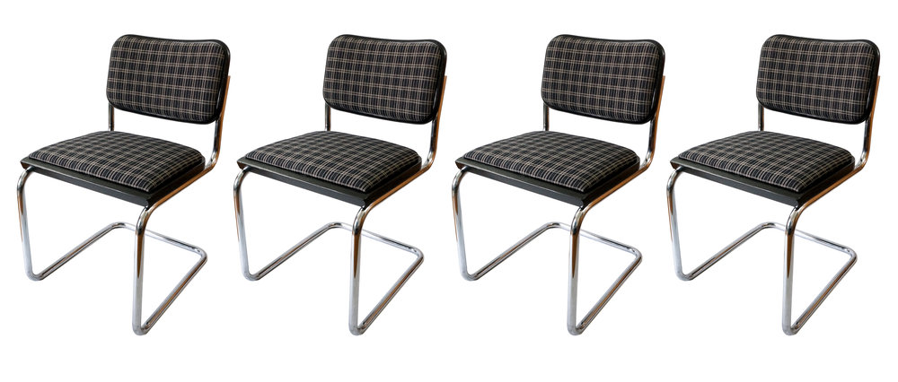 KNOLL Cesca Chairs By Marcel Breuer   Set Of 4