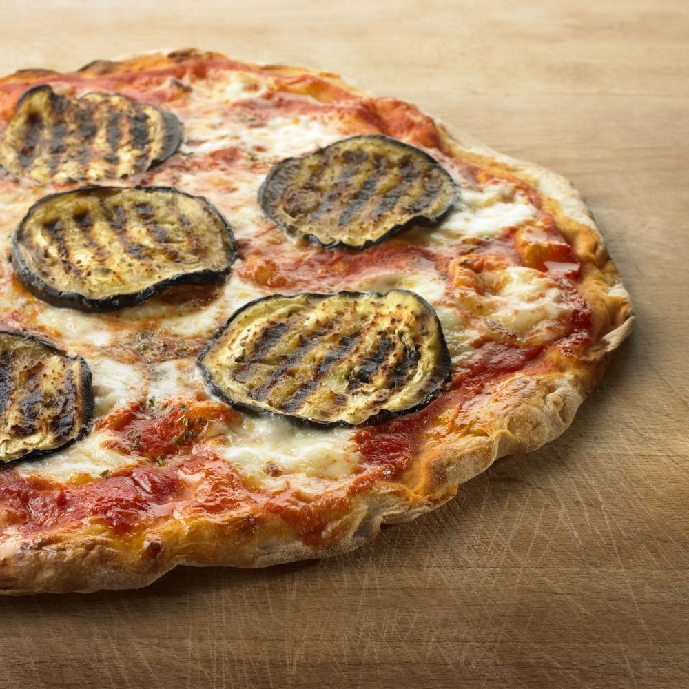 Pizza alle Melanzane (Aubergine)