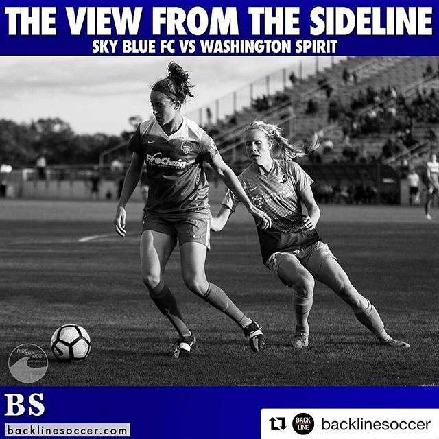 In case you missed any of the action from @skybluefc vs @washingtonspirit be sure to check out @backlinesoccer for some photos!  #backlinesoccer #nwsl #skybluefc #spirit #sportsphotography #canon #jersey #dc #soccer #ussoccer #peakdesign