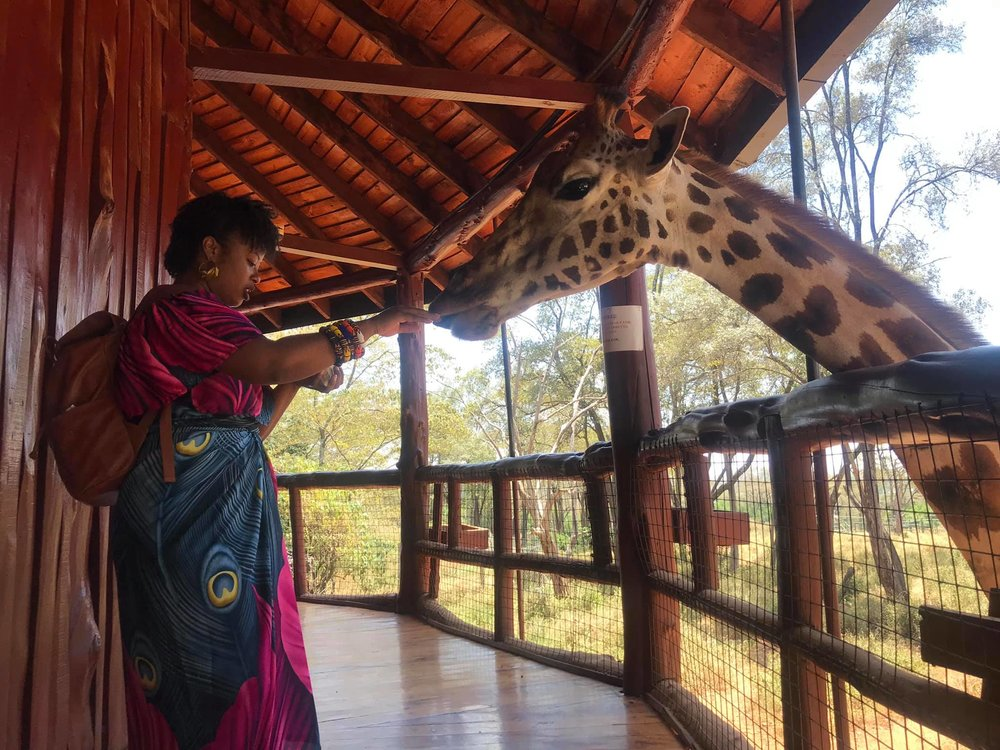 Definitely go to the Giraffe Center. I mean its Giraffes and you can feed them. It took us about an hour to get there from Westlands. Costs a 1000 Kenya shillings to enter. Thats about $10. They accept debit cards. I used my Sierra Leone issued UBA card and it worked. Yaaay!