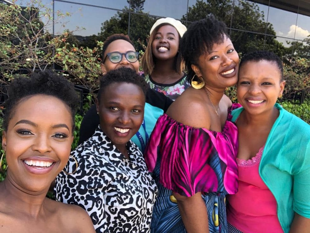 The amazing host and all female crew of Living with S on Kenya's NTV. An all female crew on the continent is just about my dream set up for my own show.
