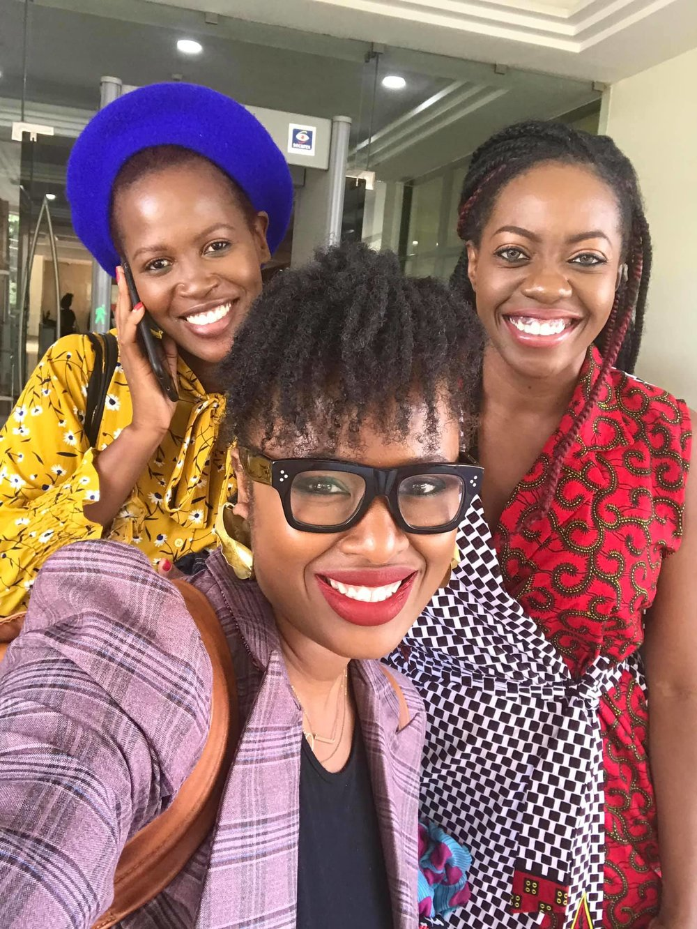mandatory selfie post The She Word filming at BBC Africa with Mandy Amandine and Sade Ladipo. I was the first guest ever from Sierra Leone on the show. Gladly set the bar all the way high.