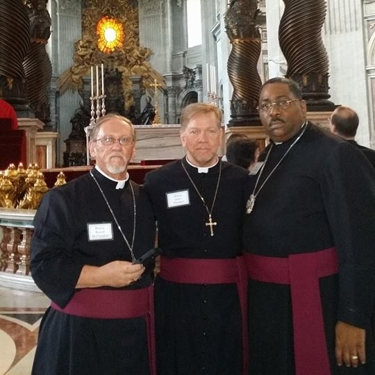 At the Vatican  Abp. Russ McClanahan, Bp. James Hampton and Abp. Henry Roberts.jpg