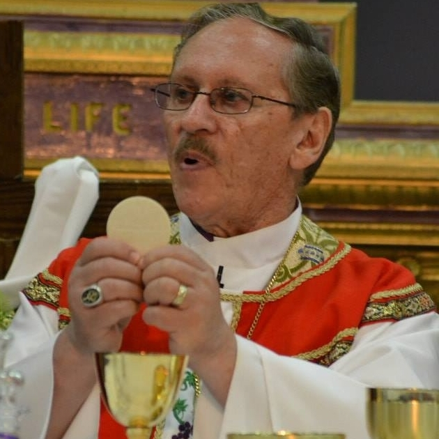 Abp. Russ McClanahan celebrating the Eucharist .jpg