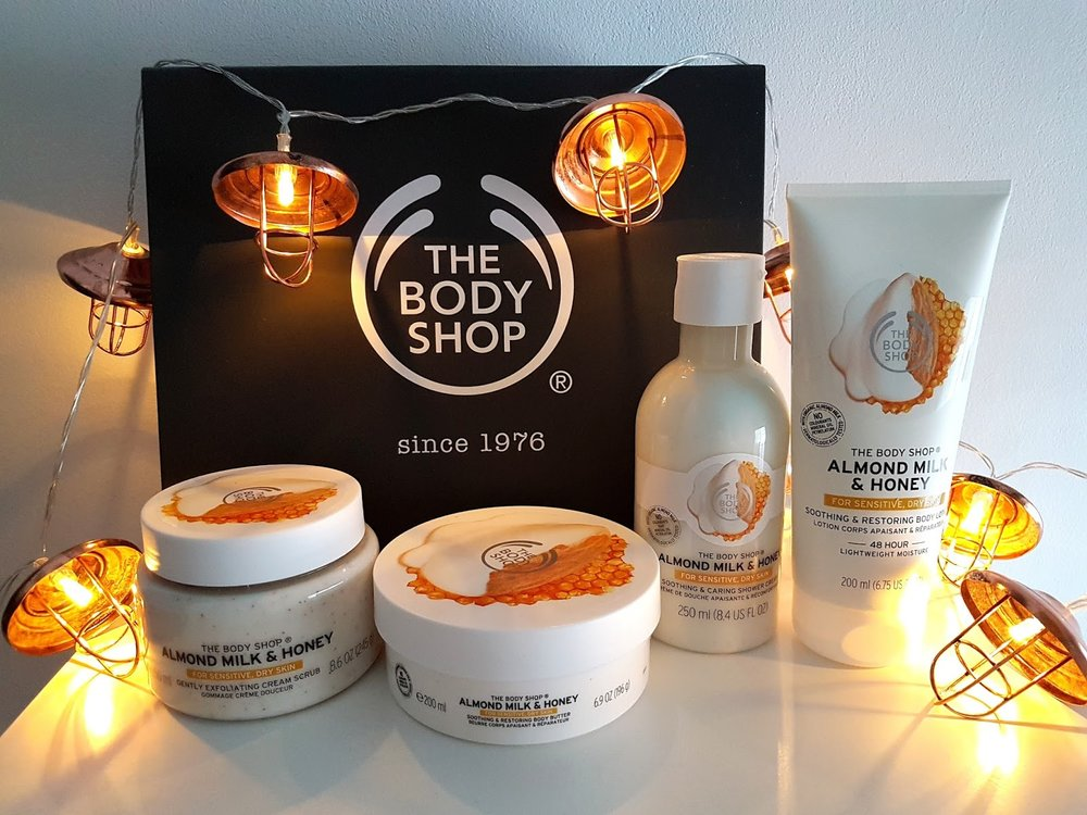 The Body Shop - Honey & Almond Milk body care range