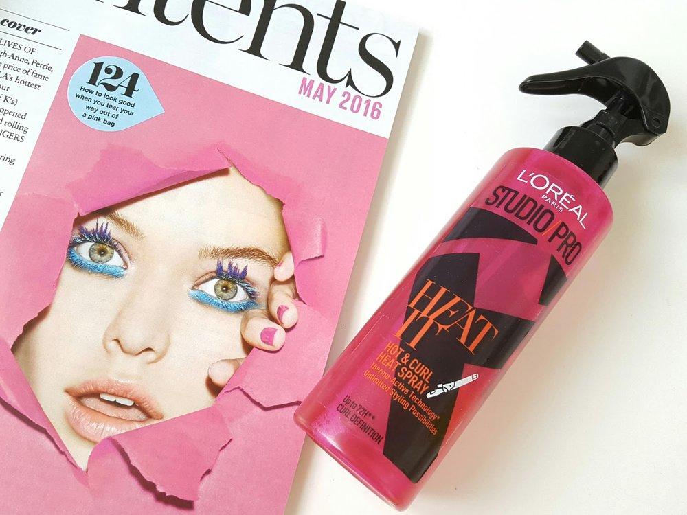 L'Oreal Paris - Studio Pro Hot & Curl Heat Spray
