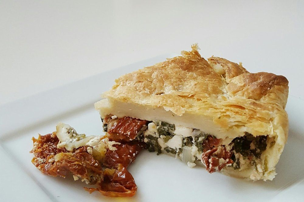 Feta Cheese, Sun-dried tomato & Spinanch Puff Pastry - Recipe