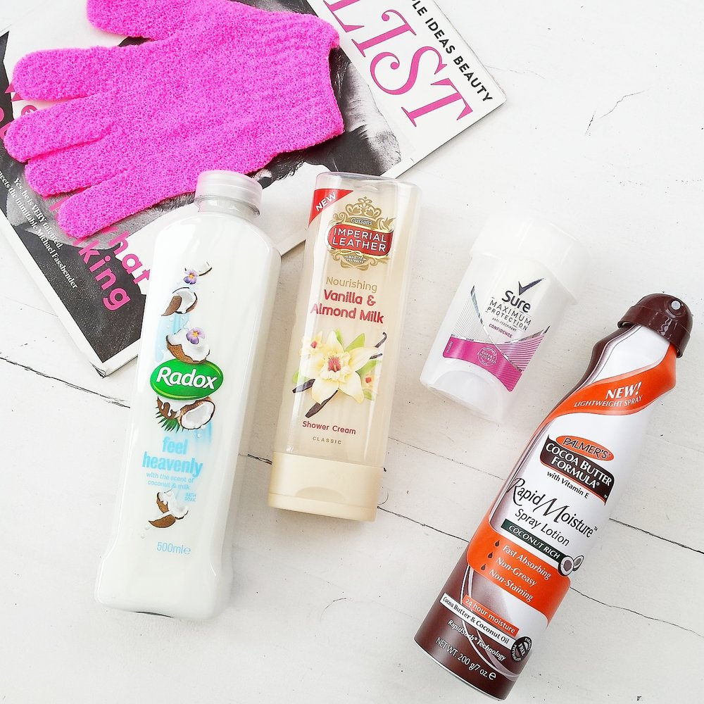 Radox, Palmers, Sure, drugstore beauty haul