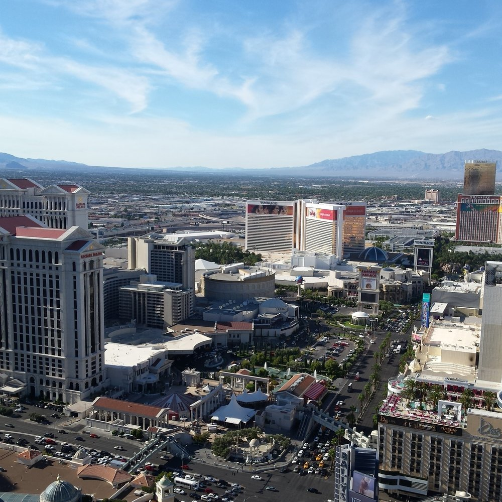 Las Vegas | view from the Paris hotel eiffel tower