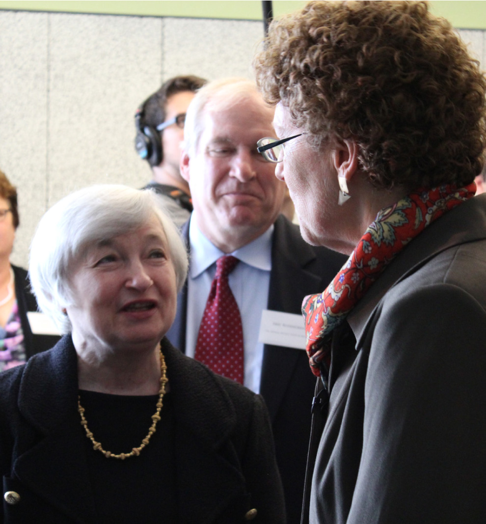 Janet Yellen, Chair of the Board of Governors of the Federal Reserve System, kicked off her visit to Boston with a tour of the area's most innovative financial opportunity center, CONNECT.