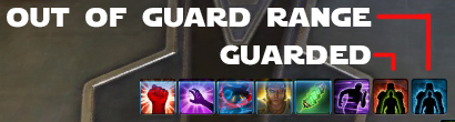 Fig. 11: These icons populate your buff tray when a player has Guard on you.