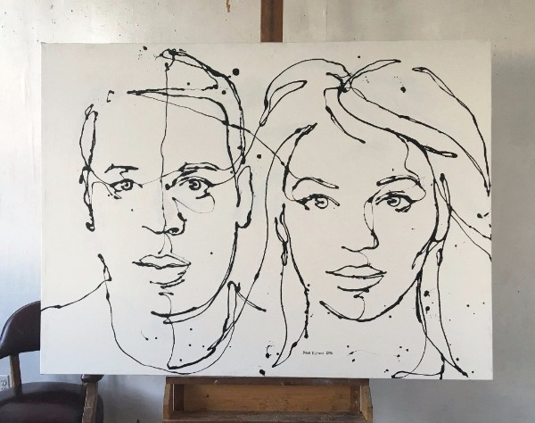 rip painting by Paul Richard commissioned work for Jay Z and Beyonce
