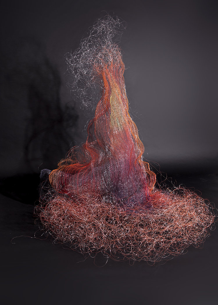 """Fire Storm"" wire sculpture by Natalie Moore"
