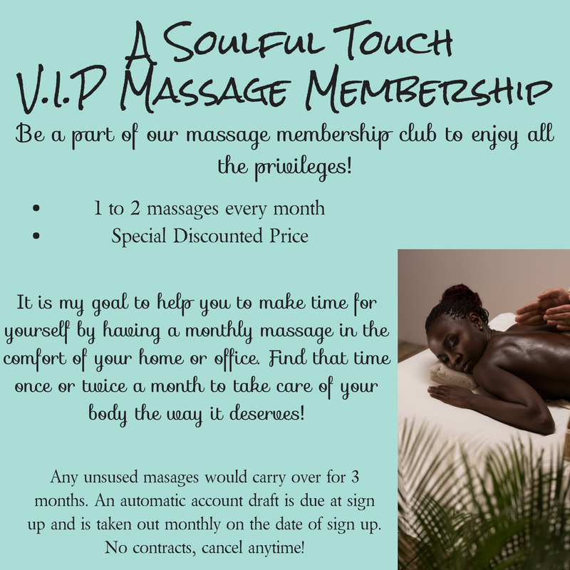 Join our massage membership club and save!