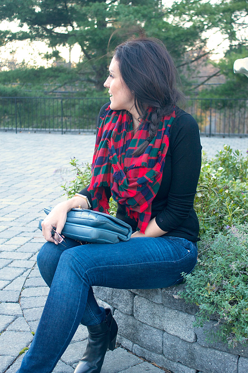 red-plaid-scarf-jeans-booties-for-fall.jpg