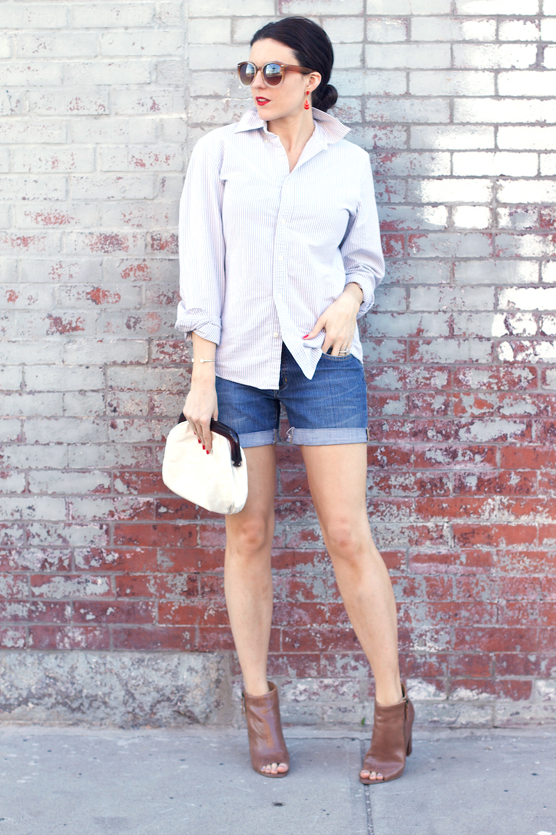 J.crew-striped-button-down-and-Gap-denim-shorts.jpg
