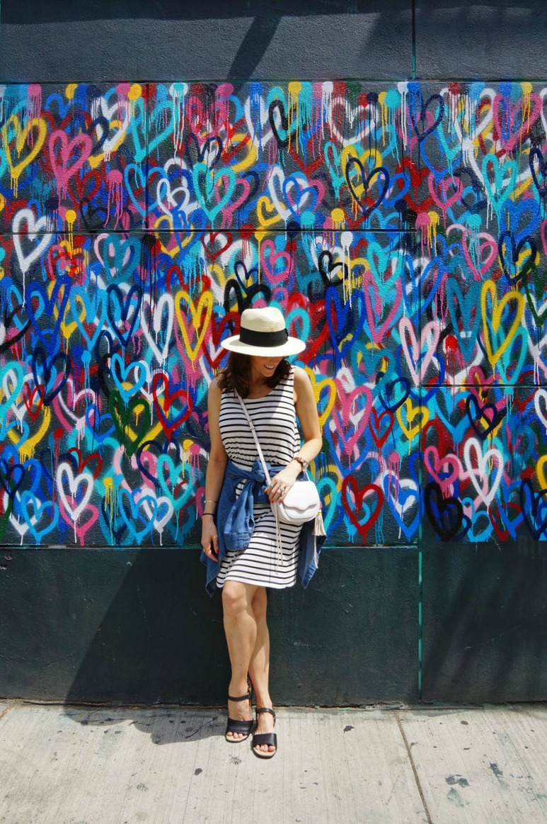Panama-Hat-Striped-dress-Easy-Spirit-black-sandals.jpg