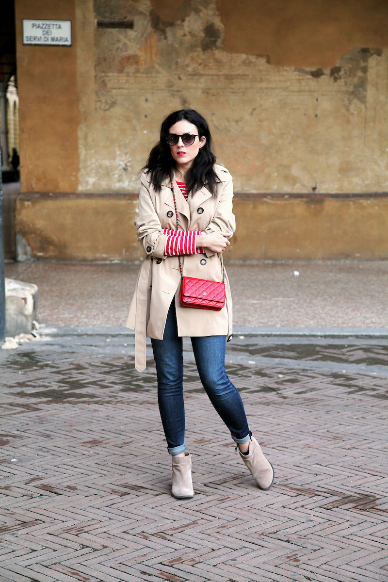 calvin-klein-trench-coat-and-red-chanel-bag.jpg