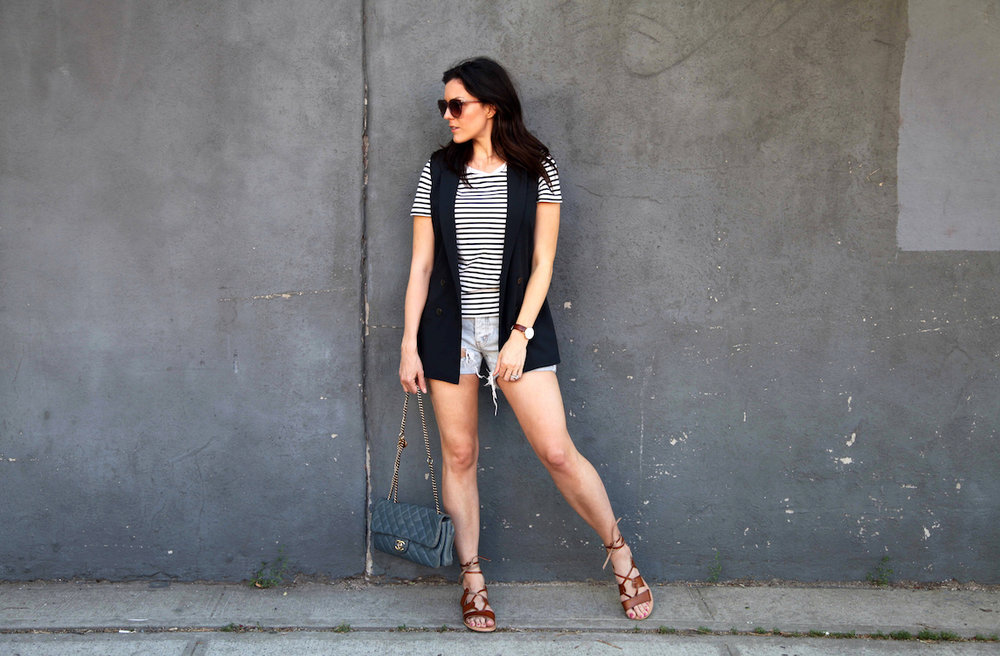 old-navy-sandals-Banana-Republic-Vest-COS-shirt-One-teaspoon-shorts-Chanel-bag.jpg
