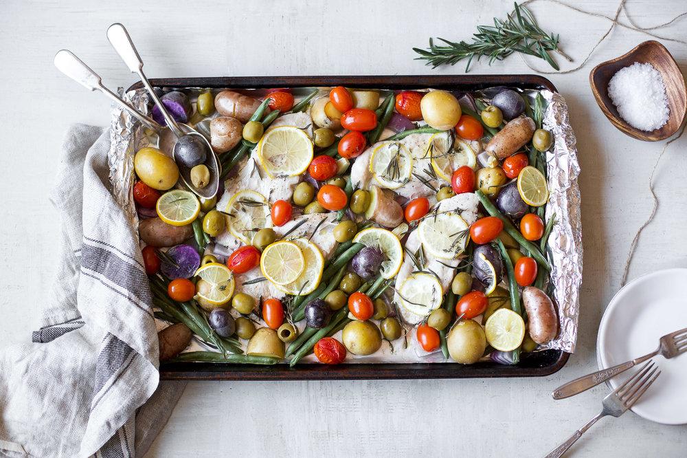 PROVENCAL TURKEY SHEET PAN DINNER - serves 4