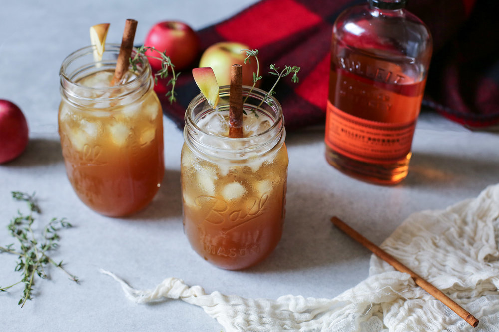 Cloudy Orchard Spiked Cider Cocktail - serves 1