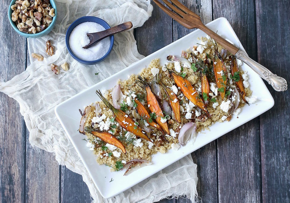 ROASTED CARROTS & COUSCOUS - serves 2-4
