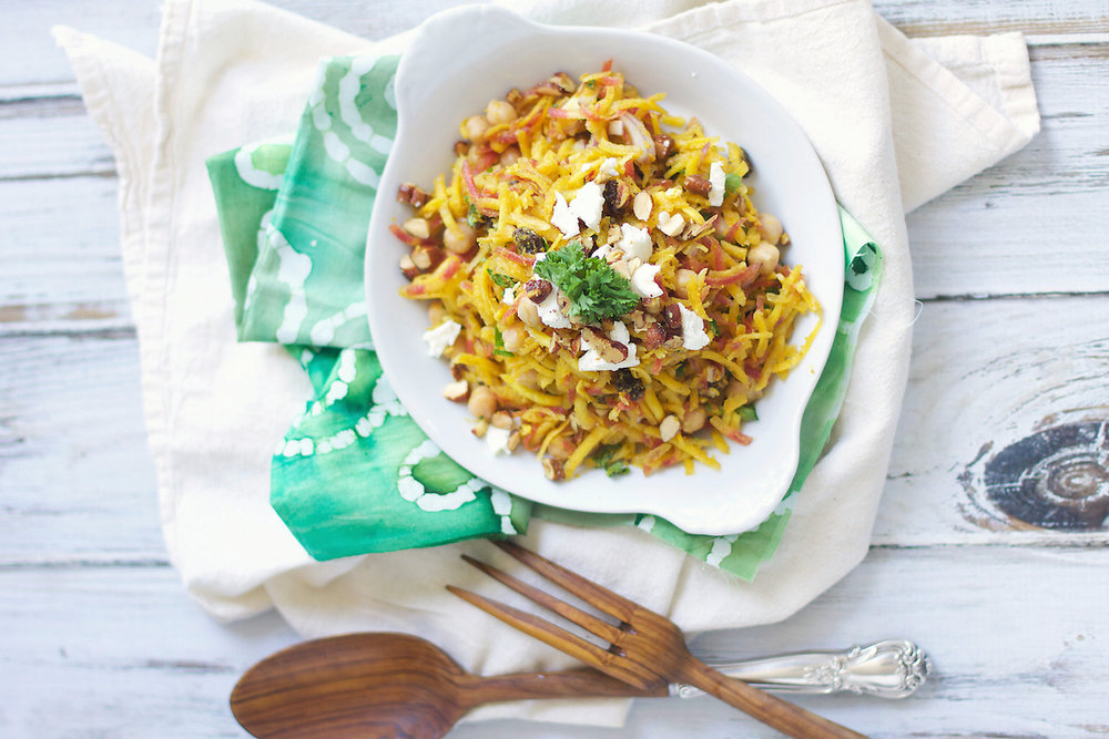 CURRIED CARROT SALAD - Serves 4