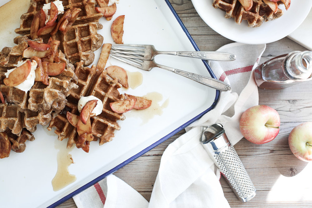 spiced waffles with bourbon syrup3.jpg