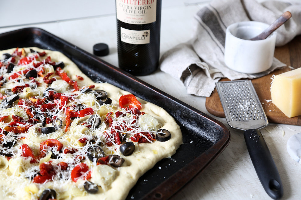 Loaded Focaccia Recipe with Carapelli Olive Oil9.jpg