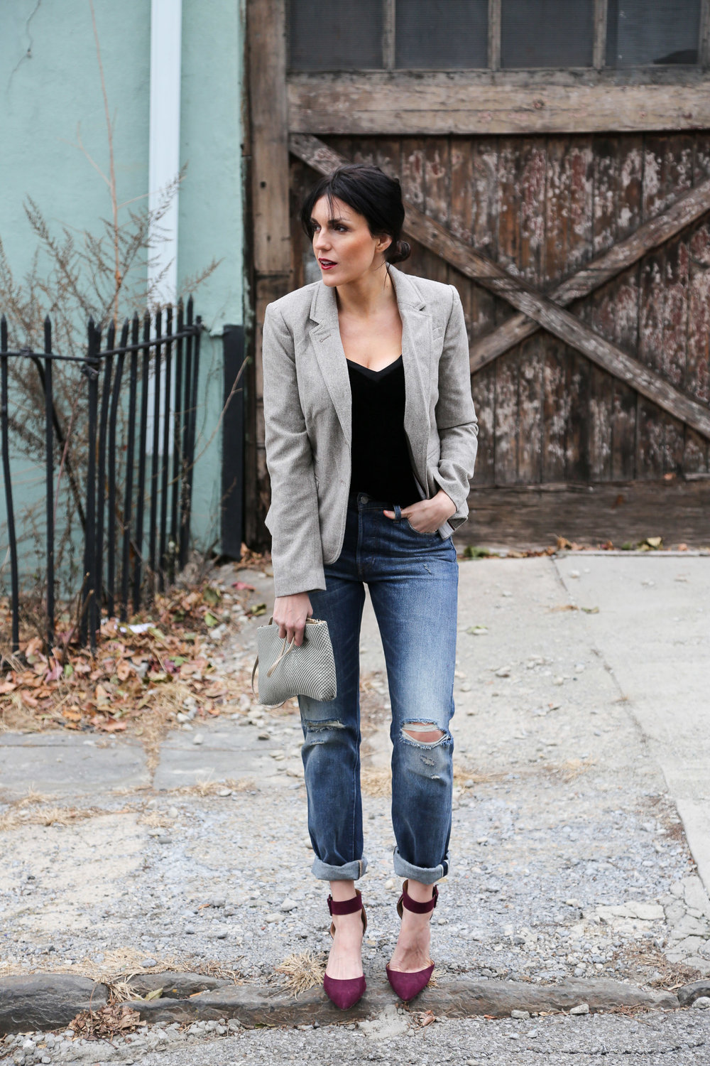 BUSINESS CASUAL - ...a more relaxed way to wear velvet and sequins, perfect for an after-work happy hour or grabbing drinks with friends