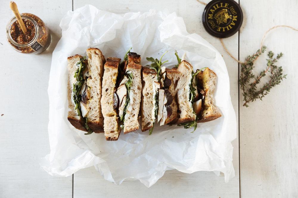 Provençal Chicken Sandwich - yields 1 sandwich