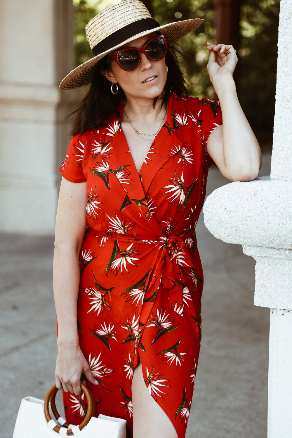 Red tropical print Forever 21 summer dess3.jpg