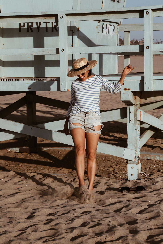striped shirt and denim cut-offs-2.jpg