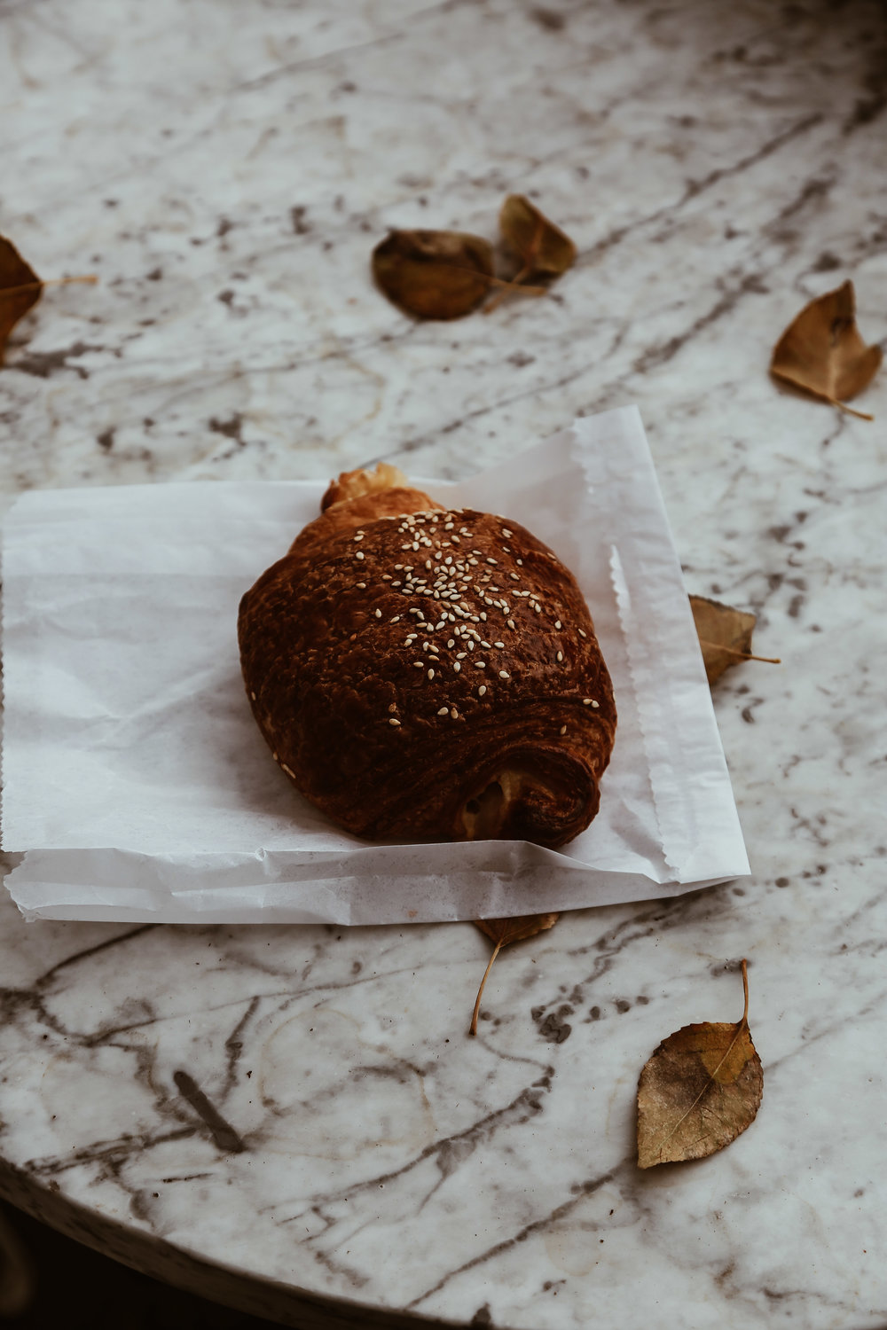 The Ham + cheese croissant from Persephone Bakery