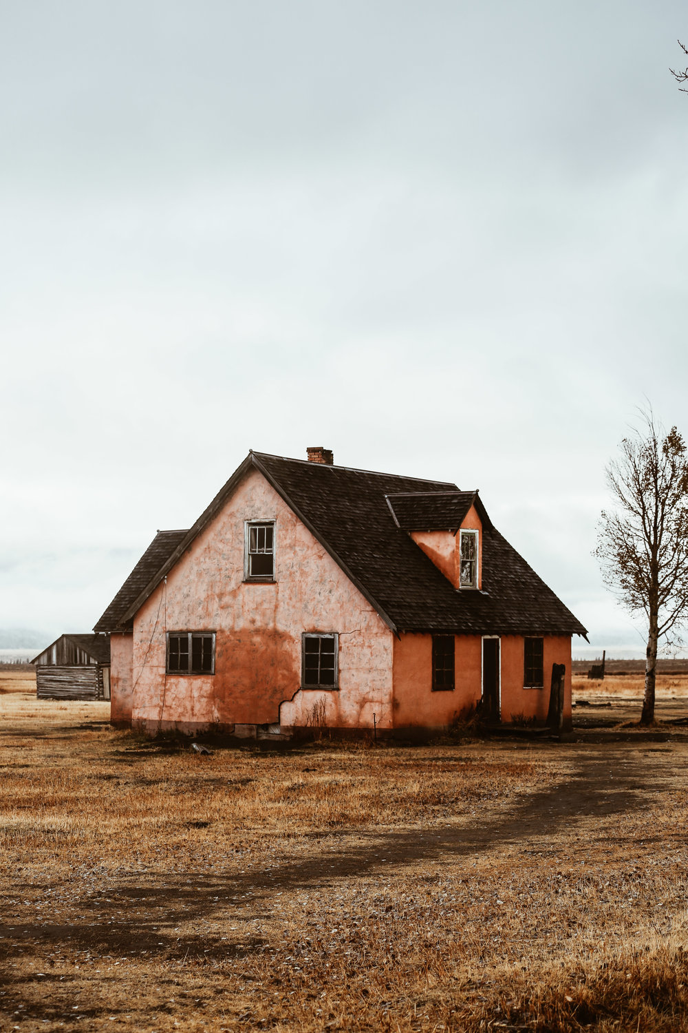 An abandoned home in Grand Teton National Park