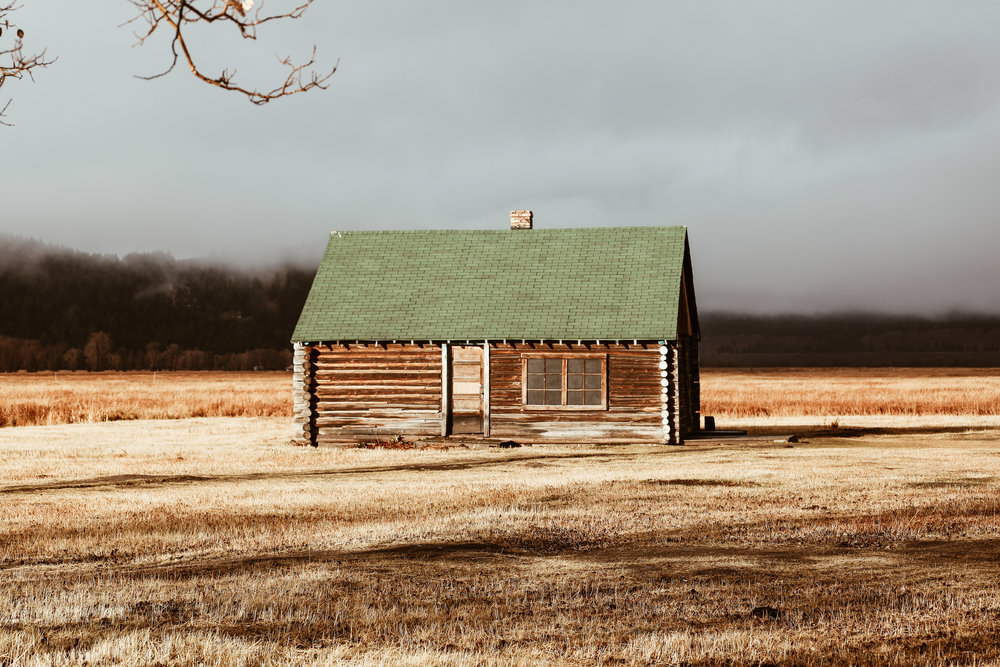Par of an abandoned village in the Grand Teton National Park