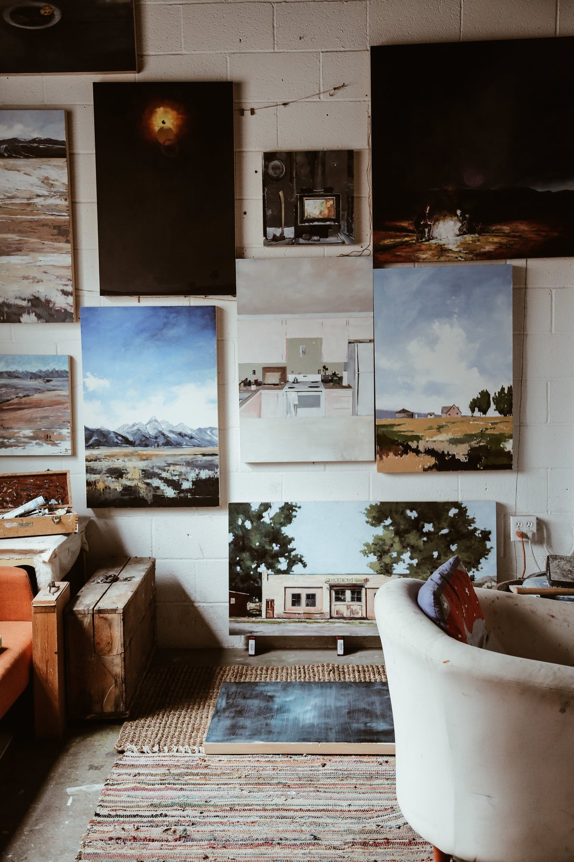 Katy Ann Fox's studio space at Teton Art Lab