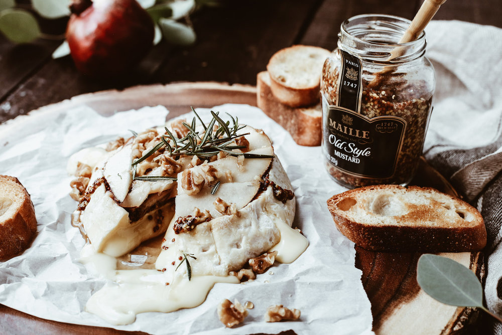PEAR + DIJONBAKED BRIE - And the award for easiest holiday appetizer goes too…