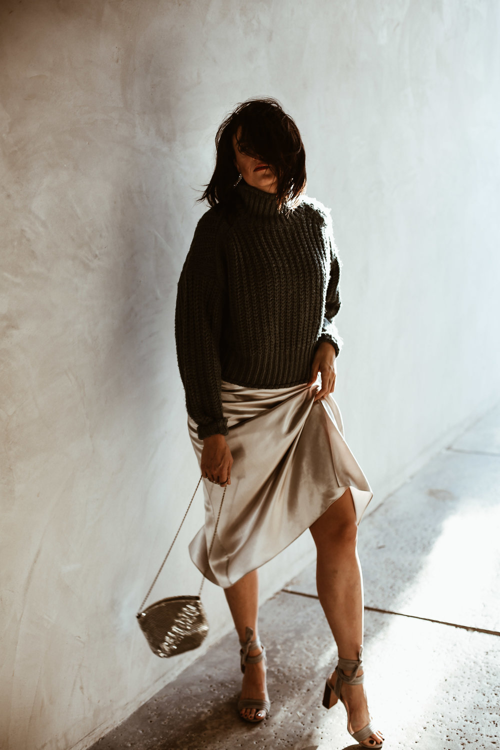 9ade9e222caa Sweater + Slip Dress Outfit for New Year's Eve — Runway Chef
