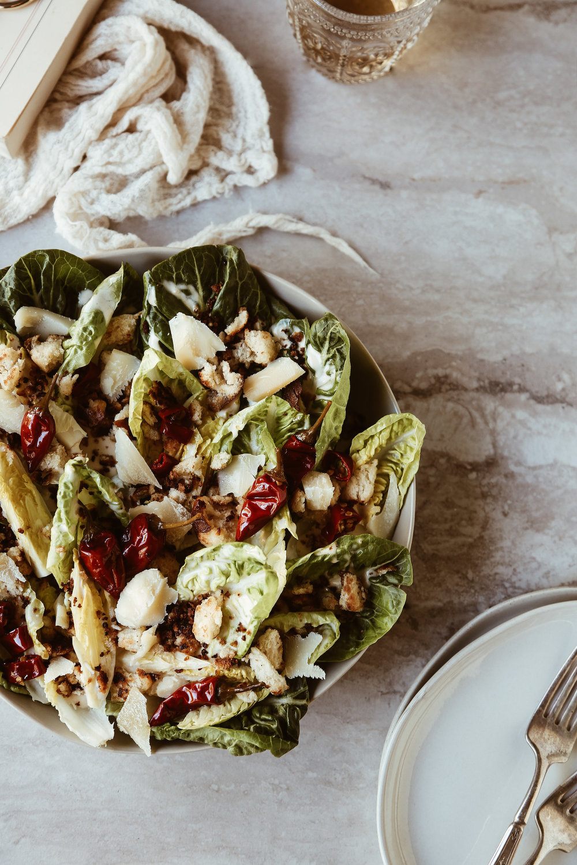 Little Gem Caesar Salad with Calabrian Chili Dressing + Pretzel Croutons-11.jpg