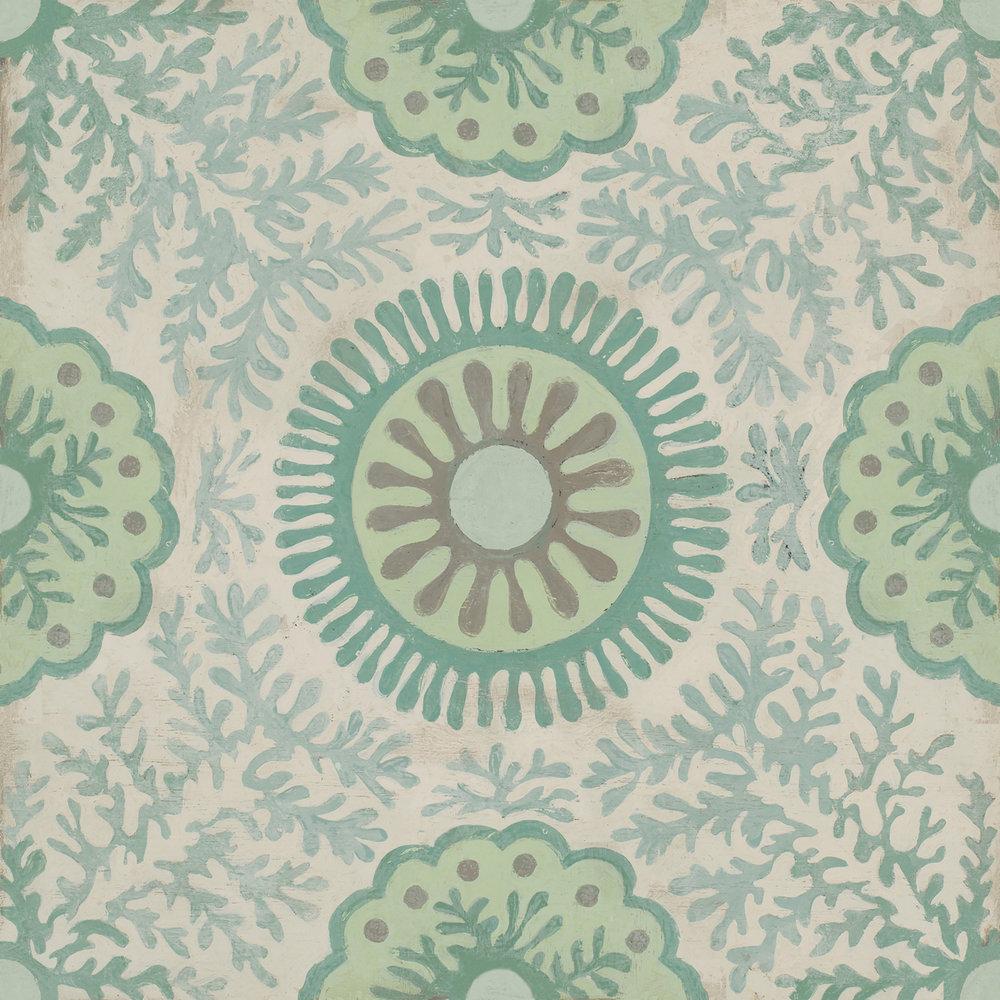 Celerie Kemble Sweet Celia 12x12 Hardwood tile #Mirthstudio