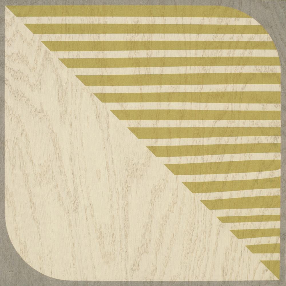 Elizabeth Olwen Silver Lining 12x12 Hardwood tile #Mirthstudio