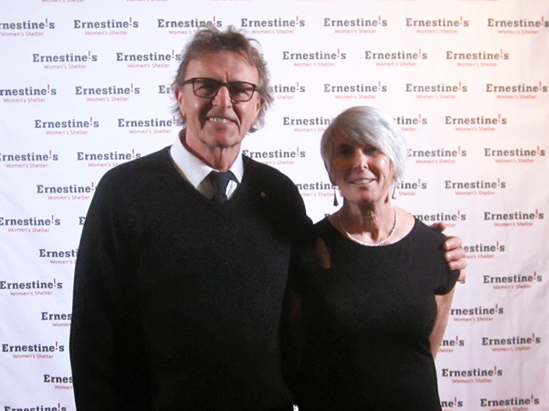 Ed & Dawn presenting the 2016 Natalie Novak Youth Award at Ernestine's