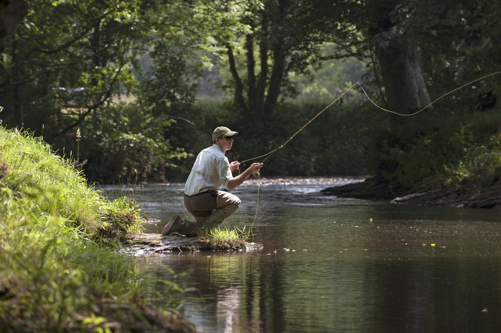 Spring & Stream - Fly-fish on Potts Creek, a stocked, spring-fed stream of exceptional clarity. Beginners and experts alike will thrill at the beauty and challenge of this ancient sport on our beautiful waters.  Rates & Seasons →