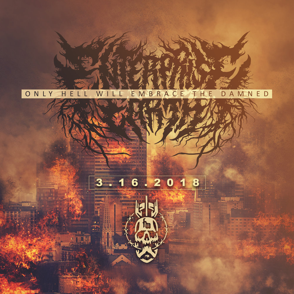 ENTERPRISE EARTH - ONLY HELL WILL EMBRACE THE DAMNED  Enterprise Earth release their first new music for2018 via Human Warfare with the single 'Only HellWill Embrace The Damned' to coincide with theirNorth American tour with label mates Thy Art IsMurder.